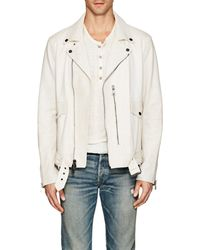 John Varvatos - Distressed Leather Biker Jacket - Lyst