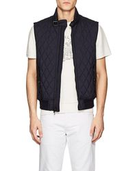 Ralph Lauren Black Label - Fairfield Diamond-quilted Tech-fabric Vest - Lyst