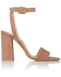 Barneys New York - Suede Ankle-strap Sandals - Lyst