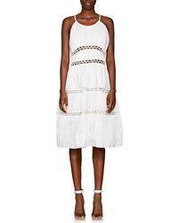 Zac Posen - Ruched Cotton-blend Tiered Dress - Lyst