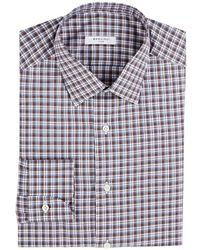 Boglioli - Checked Cotton Dress Shirt - Lyst