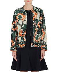 Raquel Allegra - Camouflage Silk Jacquard Jacket - Lyst