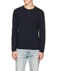 Theory - Gaskell Slub Cotton Jersey Henley - Lyst