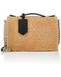 CALVIN KLEIN 205W39NYC - Shearling Chain Shoulder Bag - Lyst