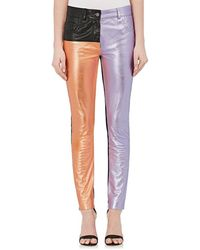 Haider Ackermann - Colorblocked Leather Jeans - Lyst