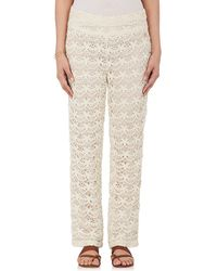 OndadeMar - Cotton Guipure Lace Trousers - Lyst