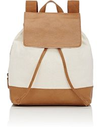 Barneys New York - Canvas & Leather Backpack - Lyst