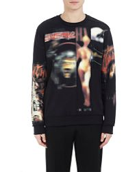 Givenchy - Heavy-metal-print Fleece Sweatshirt - Lyst