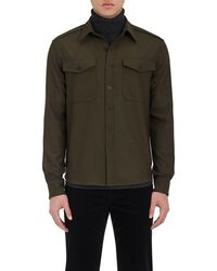 Vince   Crepe Military Shirt   Lyst