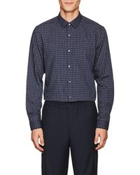 Theory - Murrary Checked Cotton Flannel Shirt - Lyst
