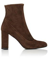 Barneys New York - Block-heel Suede Ankle Boots - Lyst