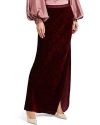 Nili Lotan - Maya Velvet Maxi Skirt - Lyst