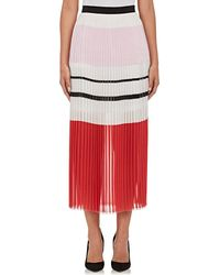 N Nicholas | Variegated Striped Knife-pleated Midi | Lyst