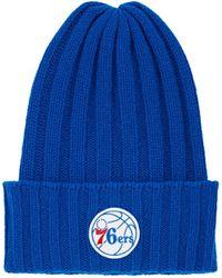 The Elder Statesman - Philadelphia 76ers Logo Short Bunny Echo Hat - Lyst