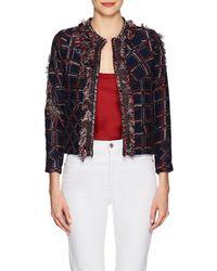 Cynthia Rowley - Fringed Tweed Jacket Size Xs - Lyst