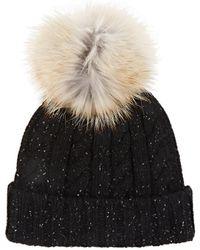 Crown Cap - Fur-pom-pom-detailed Wool - Lyst