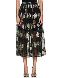 Cynthia Rowley - Metallic Floral Maxi Skirt Size 0 - Lyst