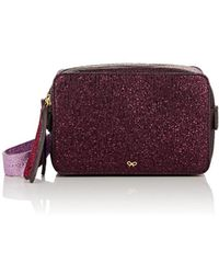 Anya Hindmarch The Stack Triple Leather Clutch - Purple