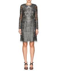 J. Mendel - Fringed Lace Cocktail Dress - Lyst