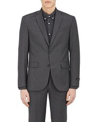 Barneys New York Wool Two-button Sportcoat - Gray