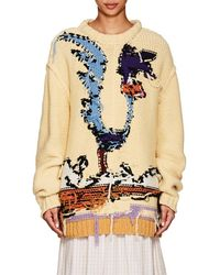 CALVIN KLEIN 205W39NYC - Looney Tunes Road Runner Crewneck Inverted-stitch Wool Sweater - Lyst