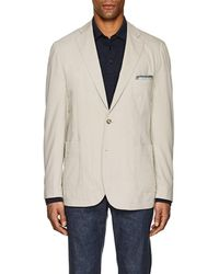 Piattelli Cotton Jersey Two-button Sportcoat - Natural