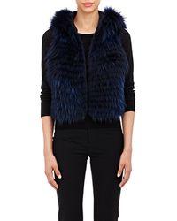 J. Mendel Fur Vest - Blue
