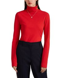 CALVIN KLEIN 205W39NYC Logo Embroidered Turtleneck Top