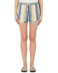 Warm - Striped Cotton Running Shorts Size S - Lyst