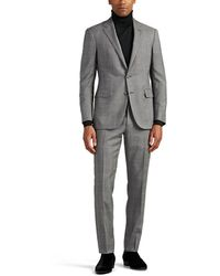 Ralph Lauren Purple Label - Prince Of Wales Checked Wool Two-button Suit - Lyst