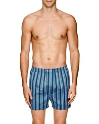 Derek Rose - Classic Striped Cotton Boxers - Lyst