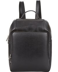 Barneys New York | Saffiano Backpack-Black | Lyst