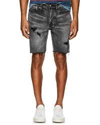 Blank NYC - Distressed Denim Slim Shorts - Lyst