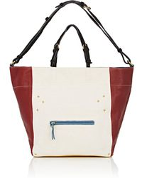 Jérôme Dreyfuss - Jacques Linen & Leather Shoulder Bag - Lyst