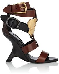Tom Ford Sculpted-heel Leather Sandals - Brown