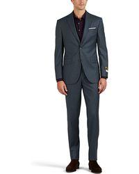 Piattelli - Neat Wool Plain-weave Two-button Suit - Lyst