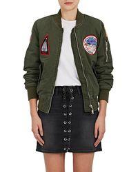 813 Ottotredici - Patch Cotton Twill Bomber Jacket - Lyst