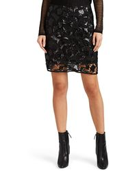 IRO - Juva Sequined Crochet Skirt - Lyst