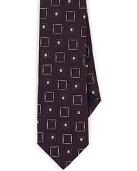 Paolo Albizzati - Square-pattern Silk Faille Necktie - Lyst
