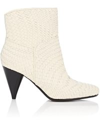 10 Crosby Derek Lam - Dannie Basket-weave Leather Ankle Boots - Lyst