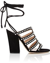 Sergio Rossi Suede Ankle-tie Sandals
