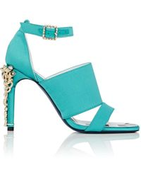 Koche - Jeweled-heel Satin Sandals - Lyst