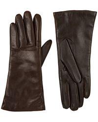 Barneys New York - Tech-smart Leather Gloves - Lyst