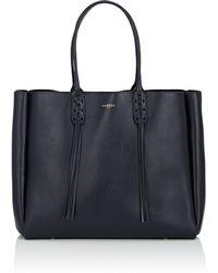 Lanvin - Shopper Leather Tote Bag - Lyst