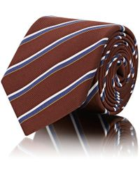 Barneys New York - Striped Silk-cotton Twill Necktie - Lyst