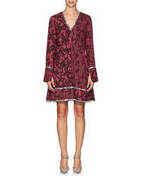 Proenza Schouler - Abstract-print Silk A-line Dress - Lyst