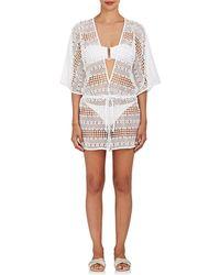 MILLY | Savona Crochet Romper | Lyst