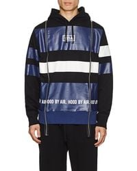 Hood By Air - Logo Striped Cotton Terry Hoodie - Lyst