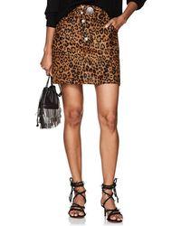 Alexander Wang - Leopard-print Calf Hair & Leather Miniskirt - Lyst