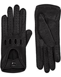 Barneys New York - Leather Driving Gloves - Lyst